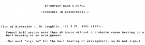 Important case about arraignment. See text below image.