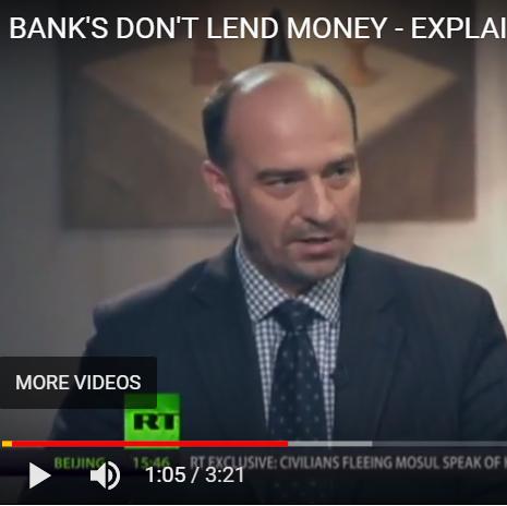 Banks don't lend money - explained - video still of man talking in talk show setting