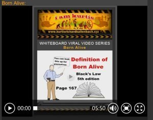 Screenshot of whiteboard video - Born Alive - definition of born alive