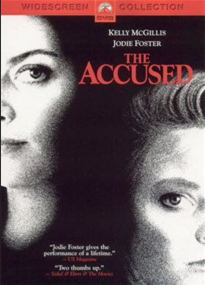 Movie poster for The Accused staring Jodie Foster and Kelly McGillis
