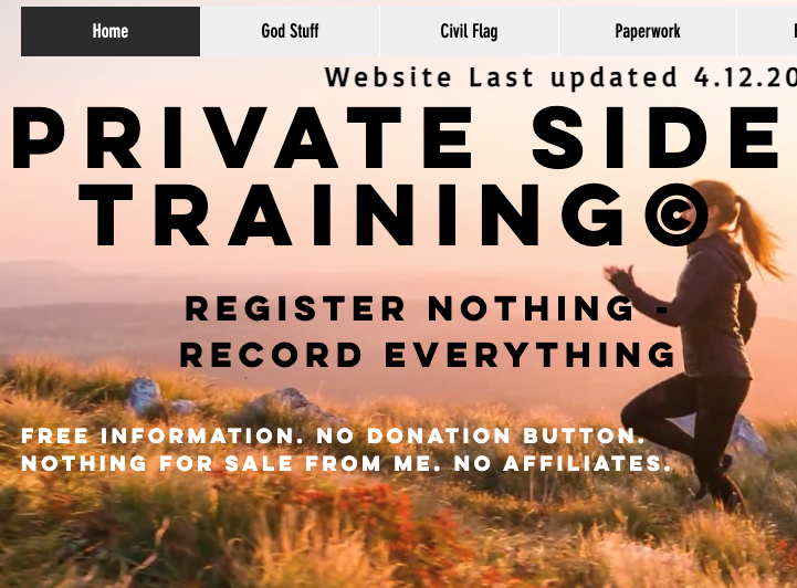 Private Side Training - Home Page Screenshot