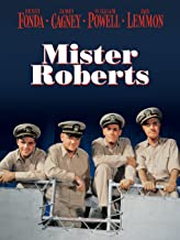 Mister Roberts movie poster showing four navy officers on a ship